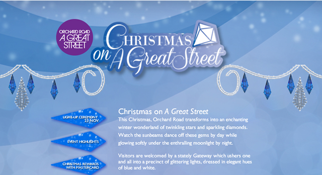 2013年オーチャード・ロードのクリスマス・ライトアップ
